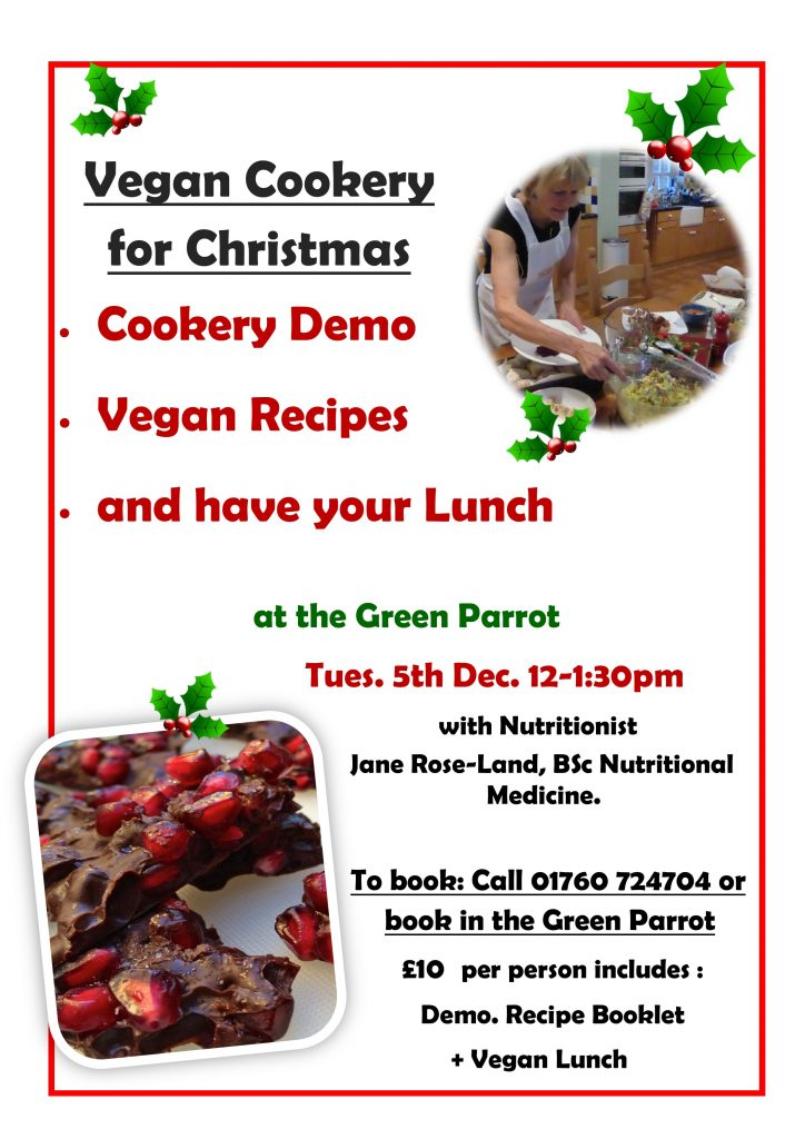 Vegan Cookery for Christmas