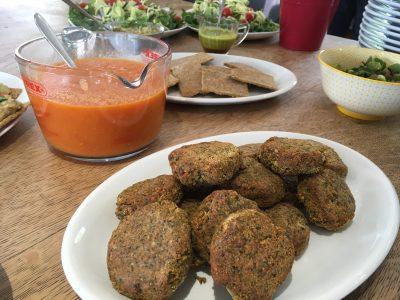 Vegan Burgers - Walnut and Flaxseed with Tomato Sauce